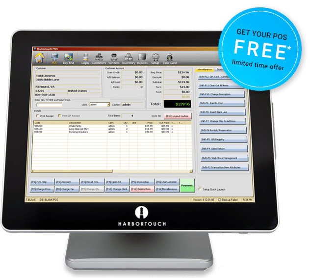 Harbortouch Retail Point of Sale System
